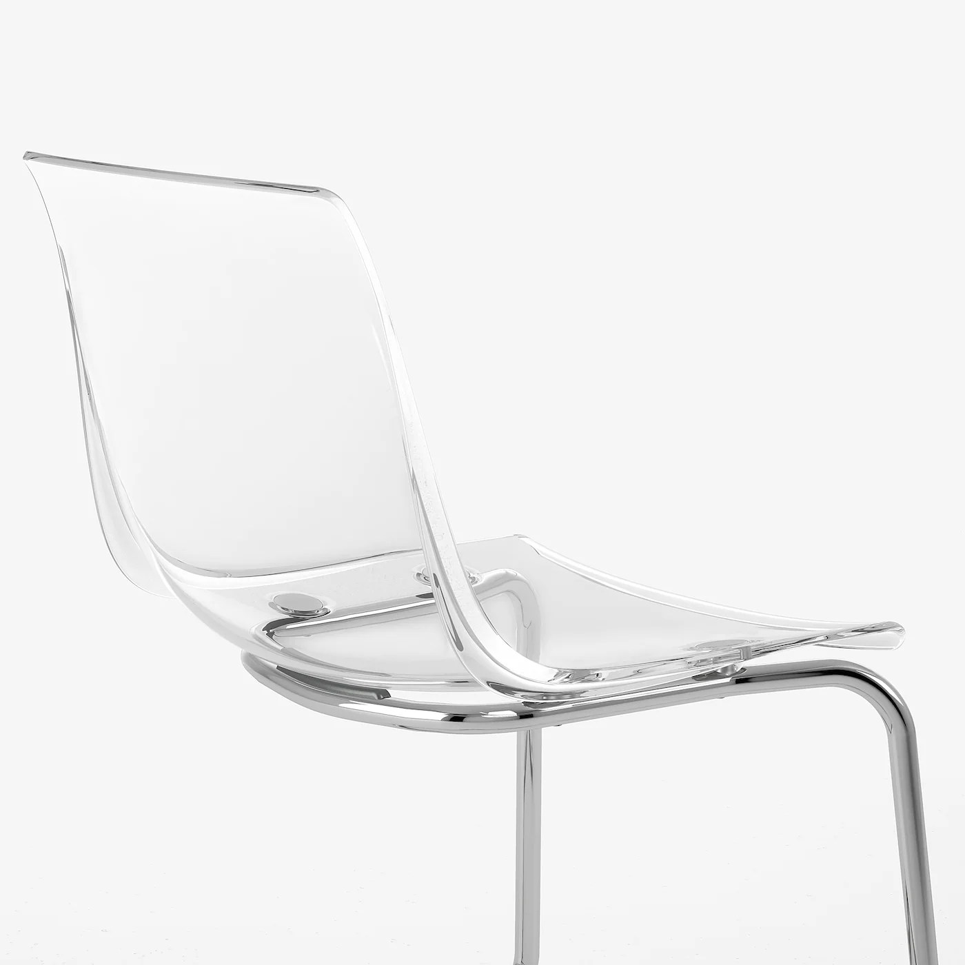 tobias chaise transparent chrome