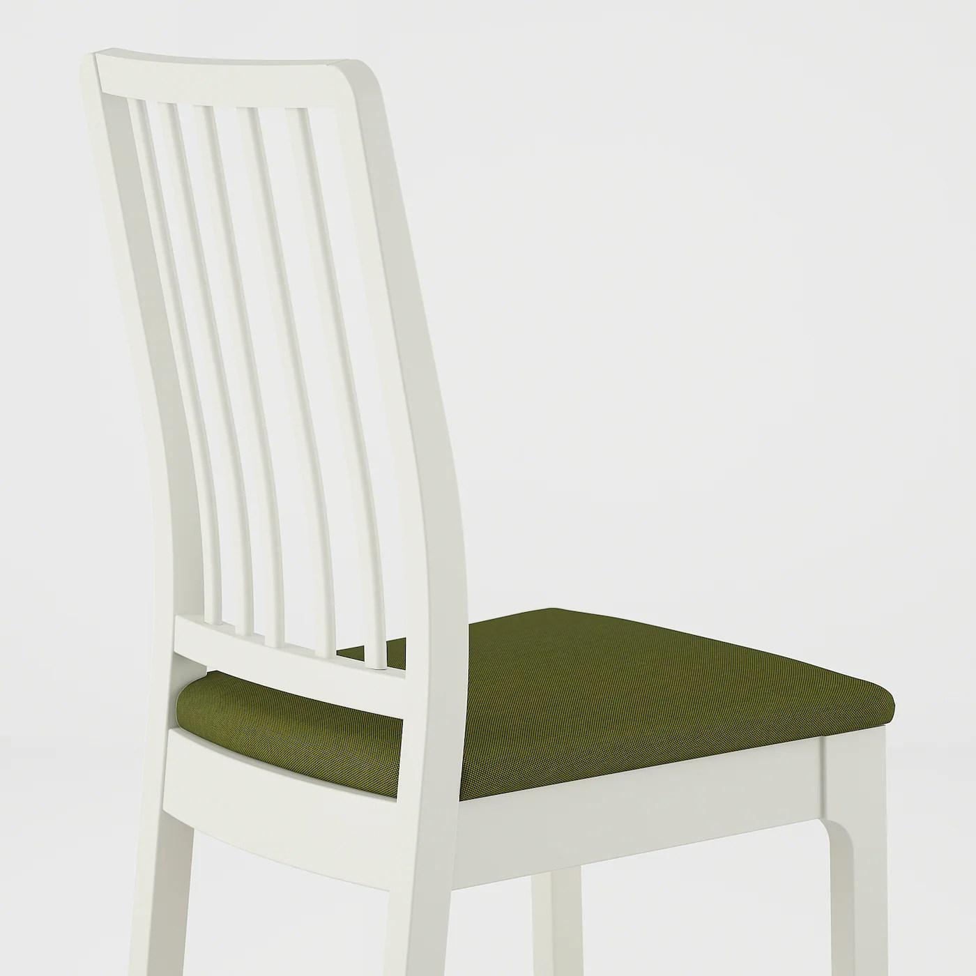 EKEDALEN Stuhl   weiß, Orrsta olivgrün/schwarz   IKEA