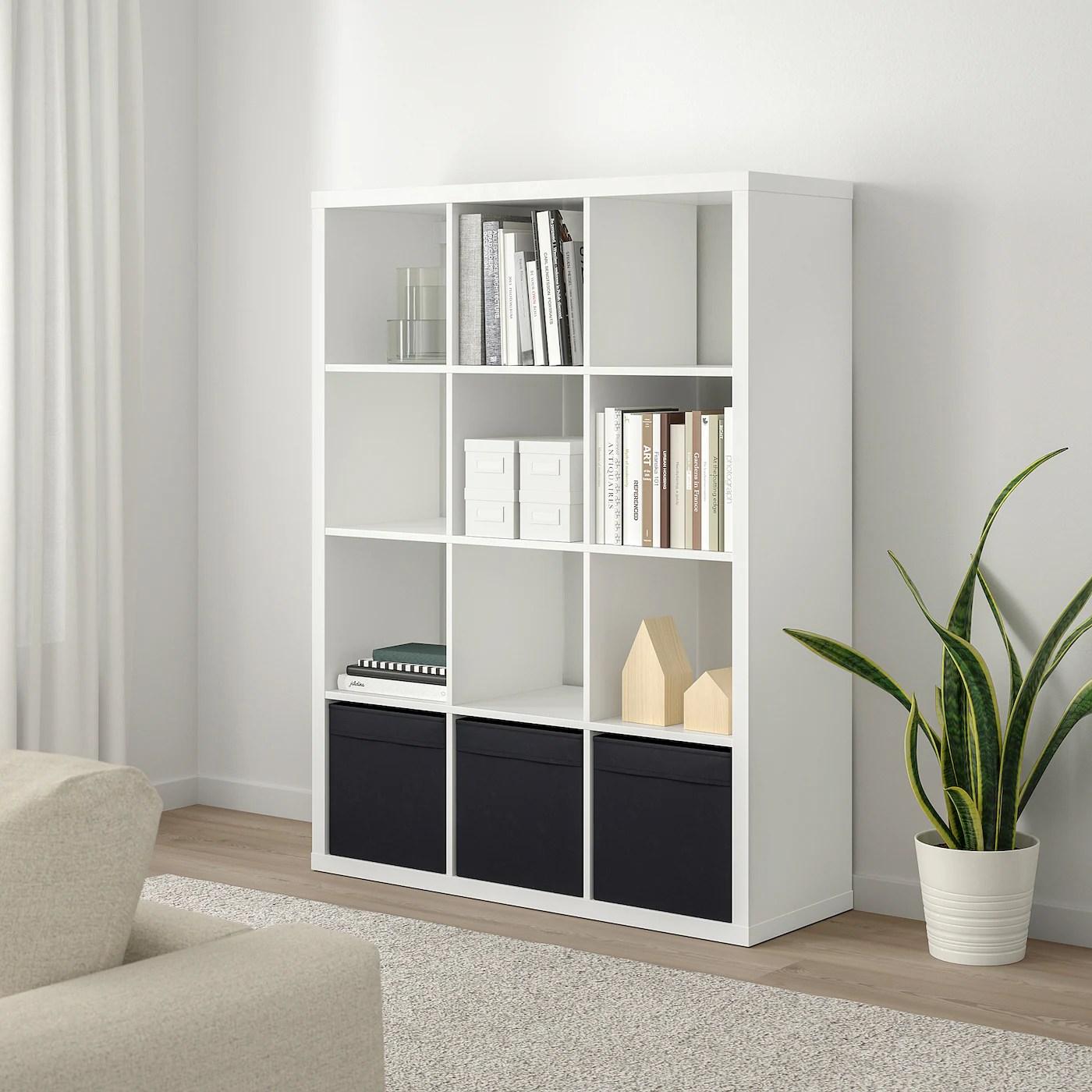 Kallax Shelving Unit White 112x147 Cm Ikea Switzerland
