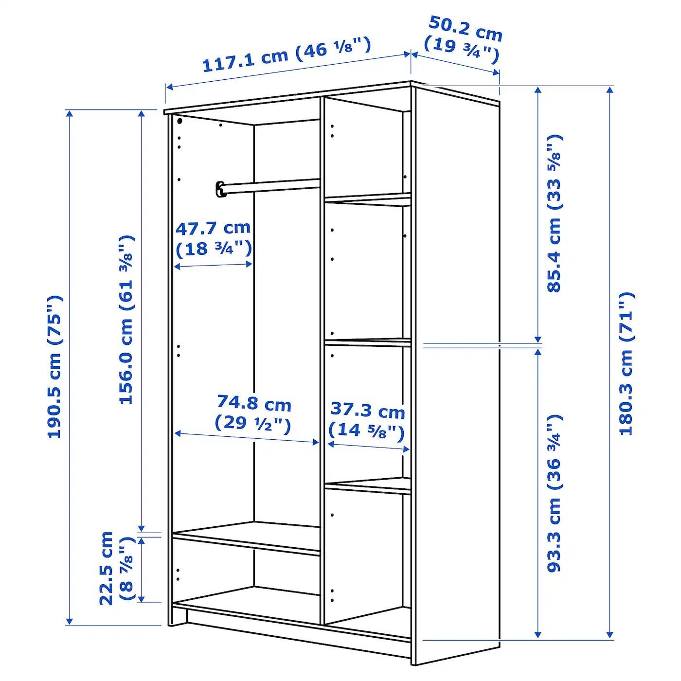 brimnes armoire 3 portes blanc