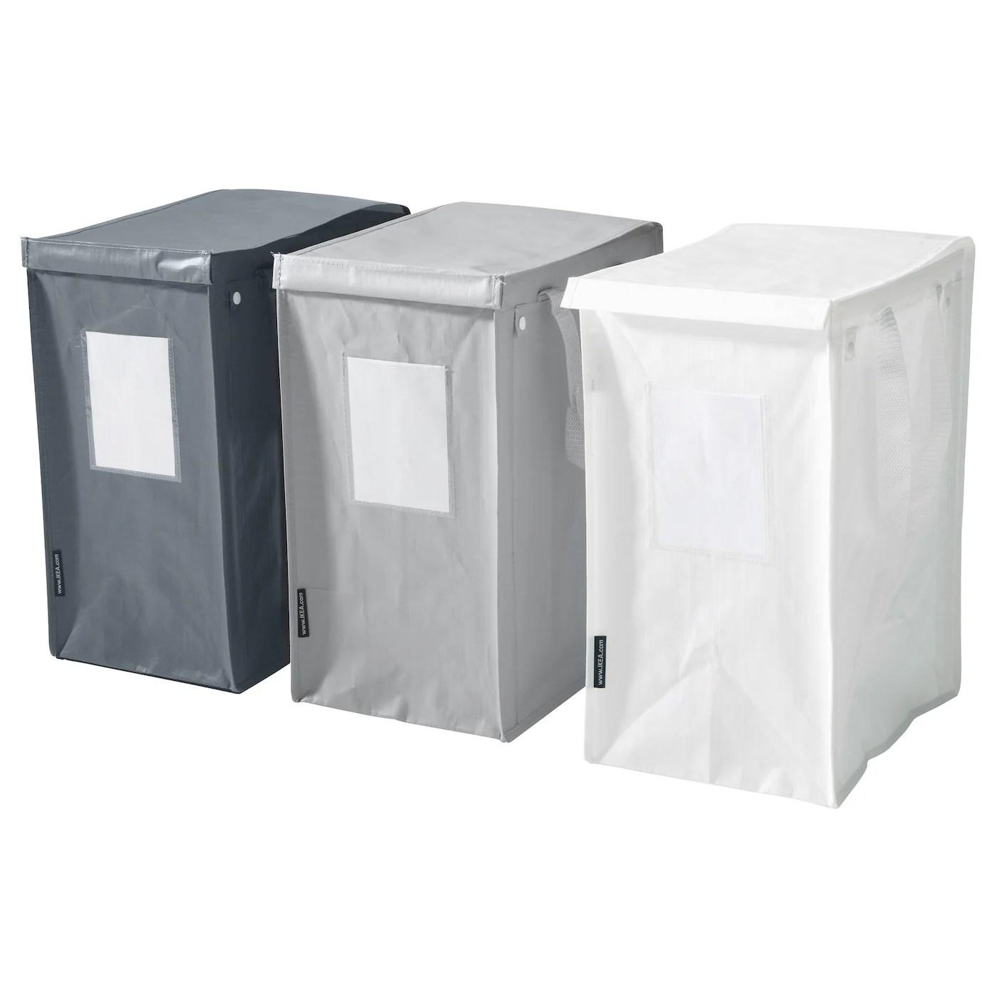 Dimpa Sac Pour Tri Des Dechets Blanc Gris Fonce Gris Clair 22x35x45 Cm 35 L Ikea Suisse