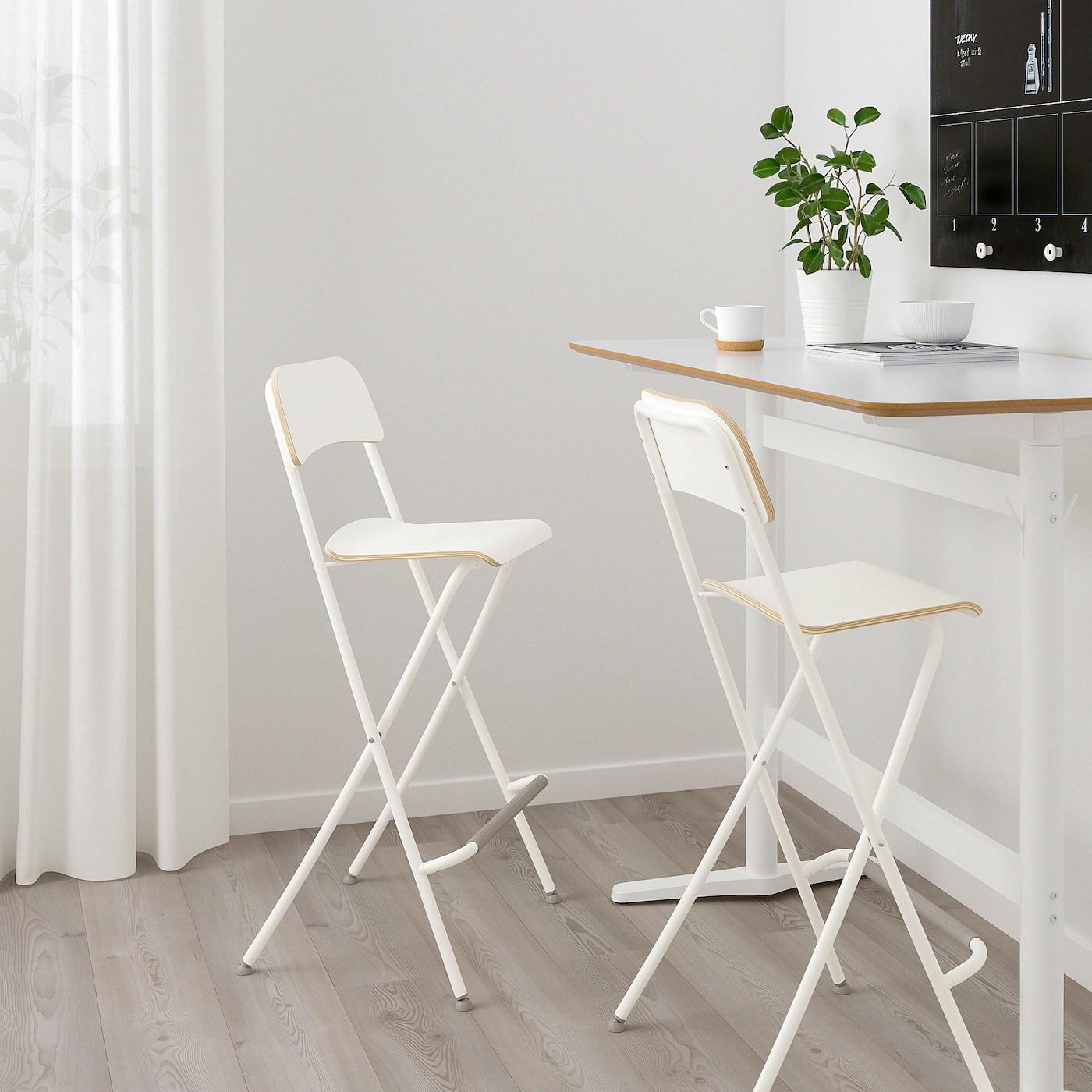 Franklin Chaise De Bar Pliante Blanc Blanc 74 Cm Ikea Suisse