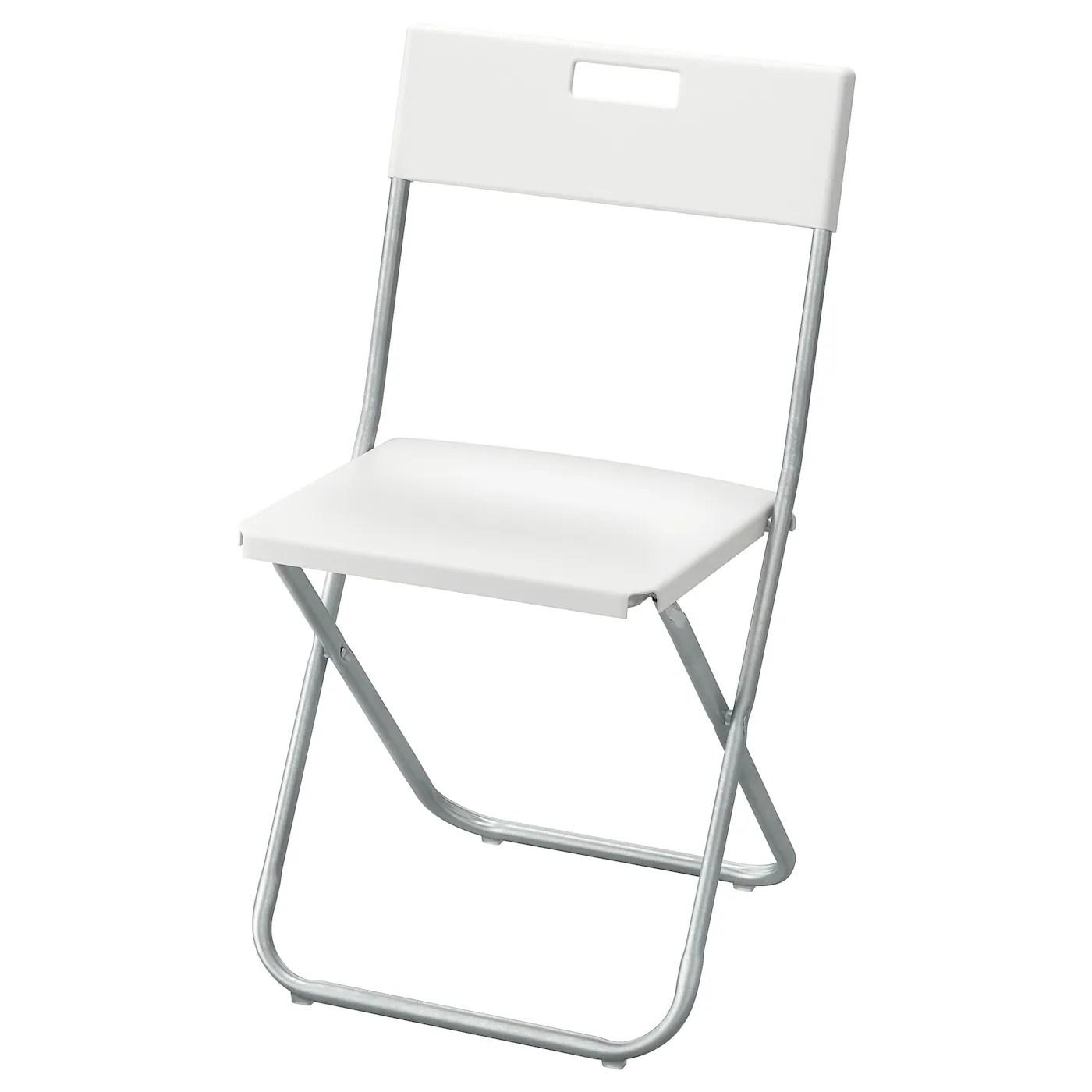 gunde chaise pliante blanc