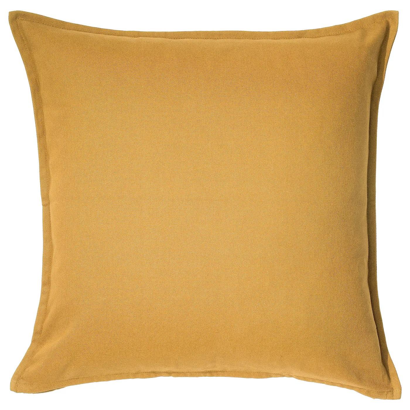 gurli housse de coussin jaune dore