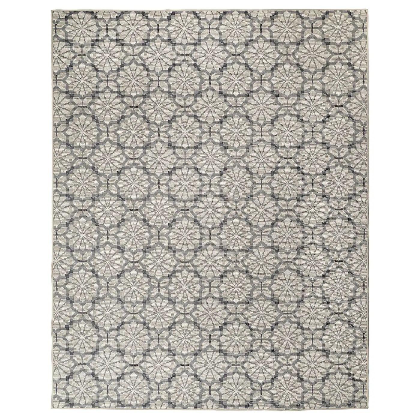 hundslund tapis tisse a plat int exterieur gris beige 200x250 cm