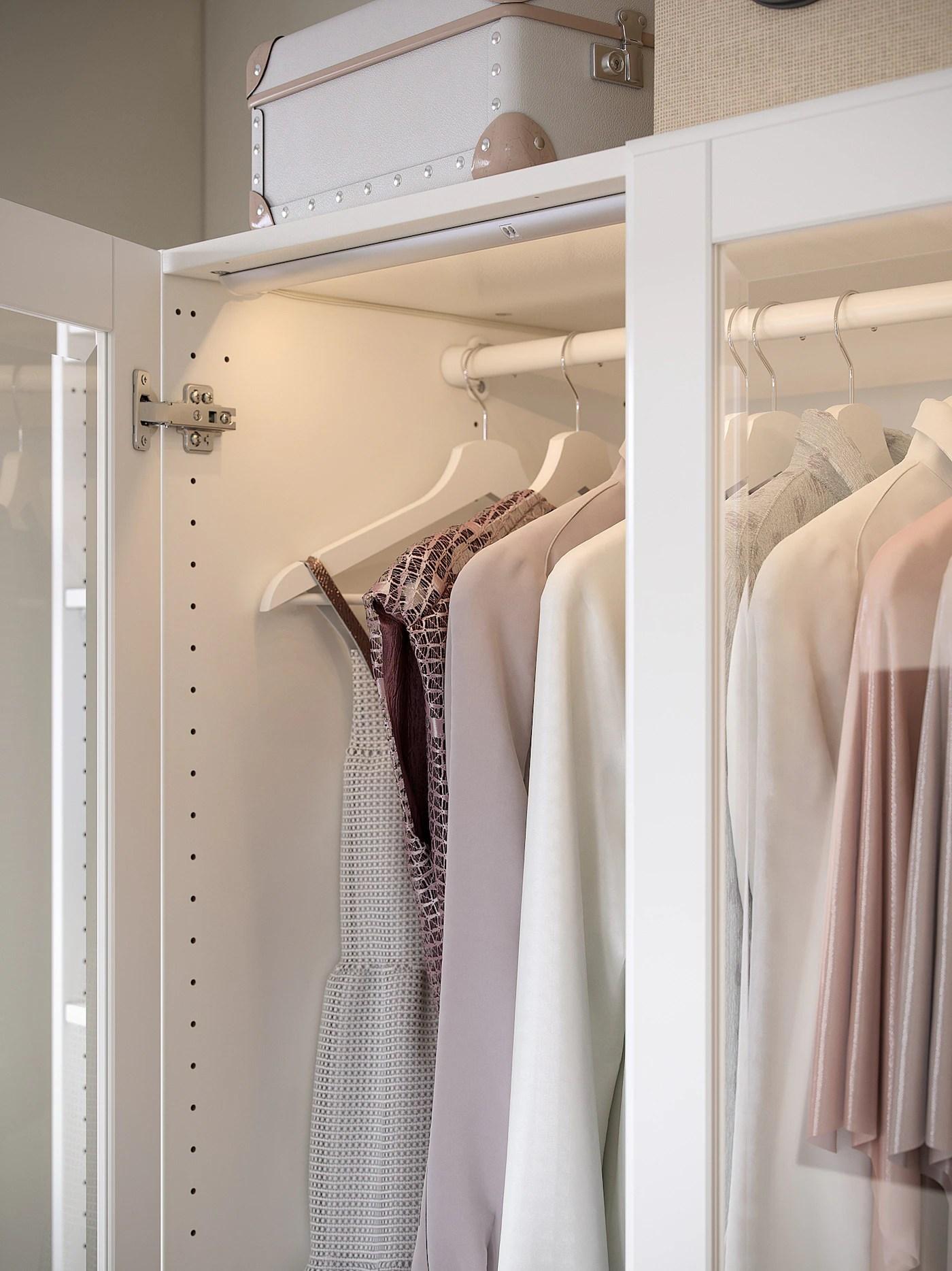 komplement tringle a habits blanc 100 cm
