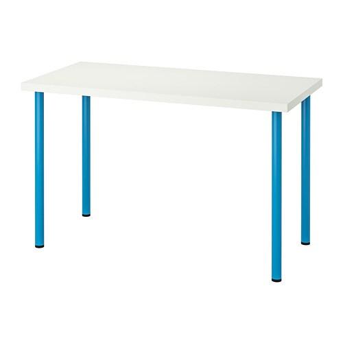 Linnmon Adils Table Blanc Bleu