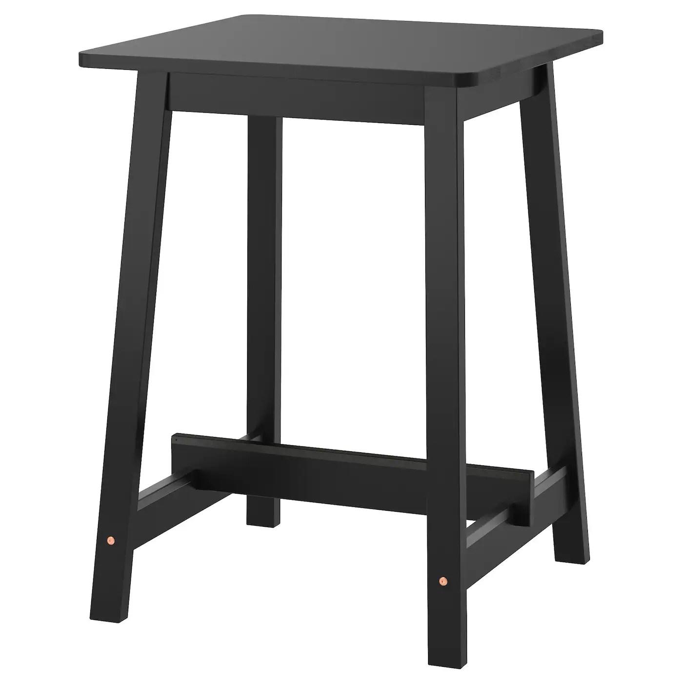 norraker table de bar noir 74x74x102 cm