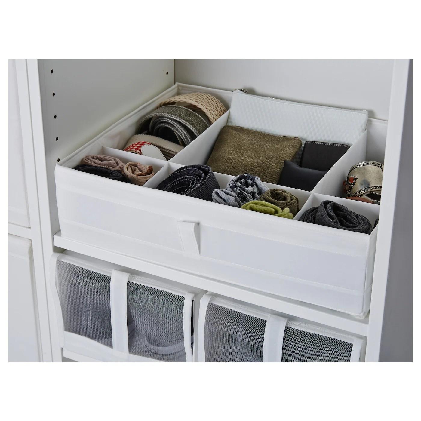 Skubb Boite A Compartiments Blanc 44x34x11 Cm Ikea Suisse