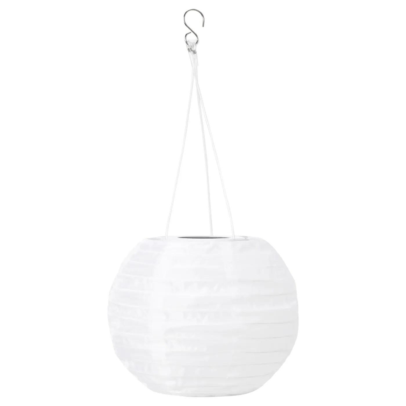 Solvinden Suspension A Energie Solaire A Led Exterieur Globe Blanc 22 Cm Ikea Suisse