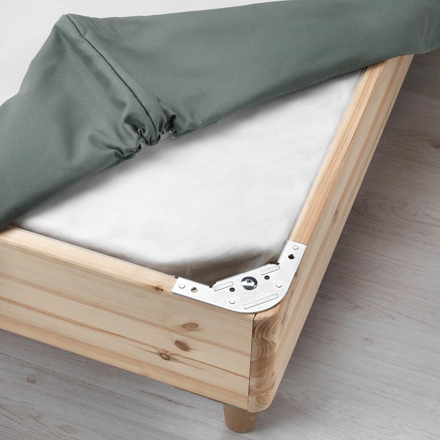 Espevar Sprung Mattress Base Dark Grey Ikea