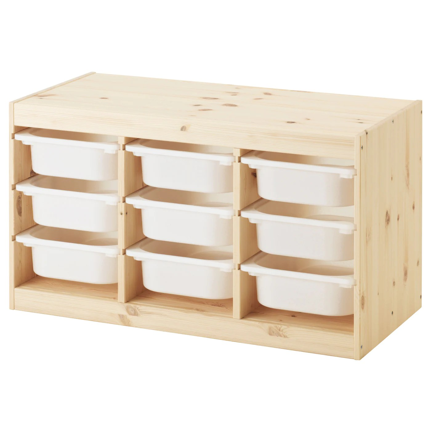 Trofast Storage Combination With Boxes Light White Stained Pine White Ikea