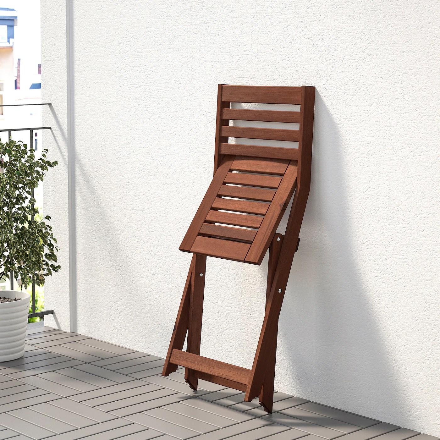ÄPPLARÖ Stuhl/außen, faltbar braun las.   IKEA Deutschland