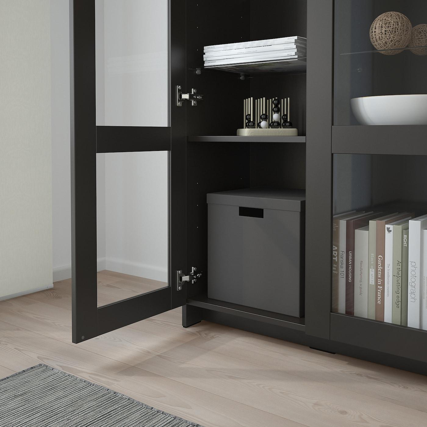 BRIMNES Schrank mit Türen, Glas/schwarz, 78x95 cm   IKEA ...