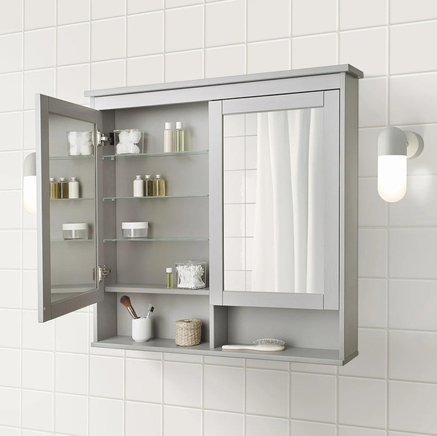 HEMNES Spiegelschrank 2 Türen   grau   IKEA Deutschland