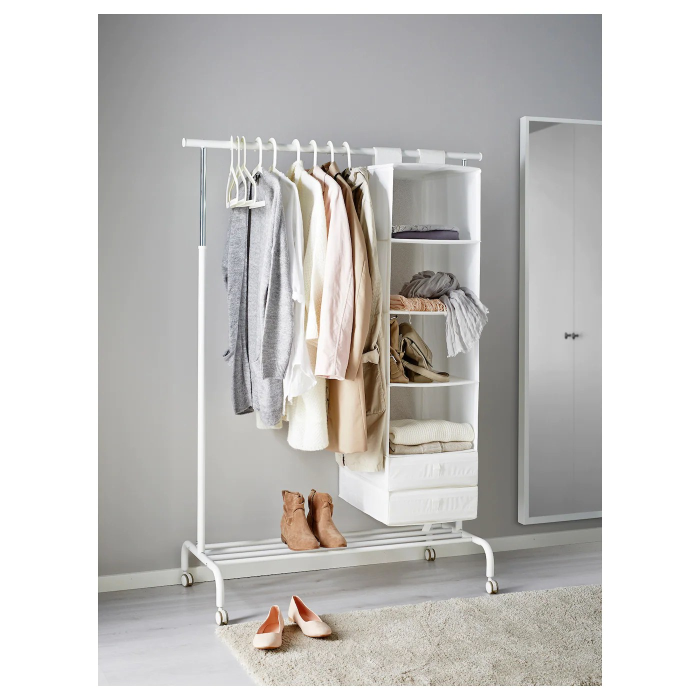 rigga garderobenstander weiss