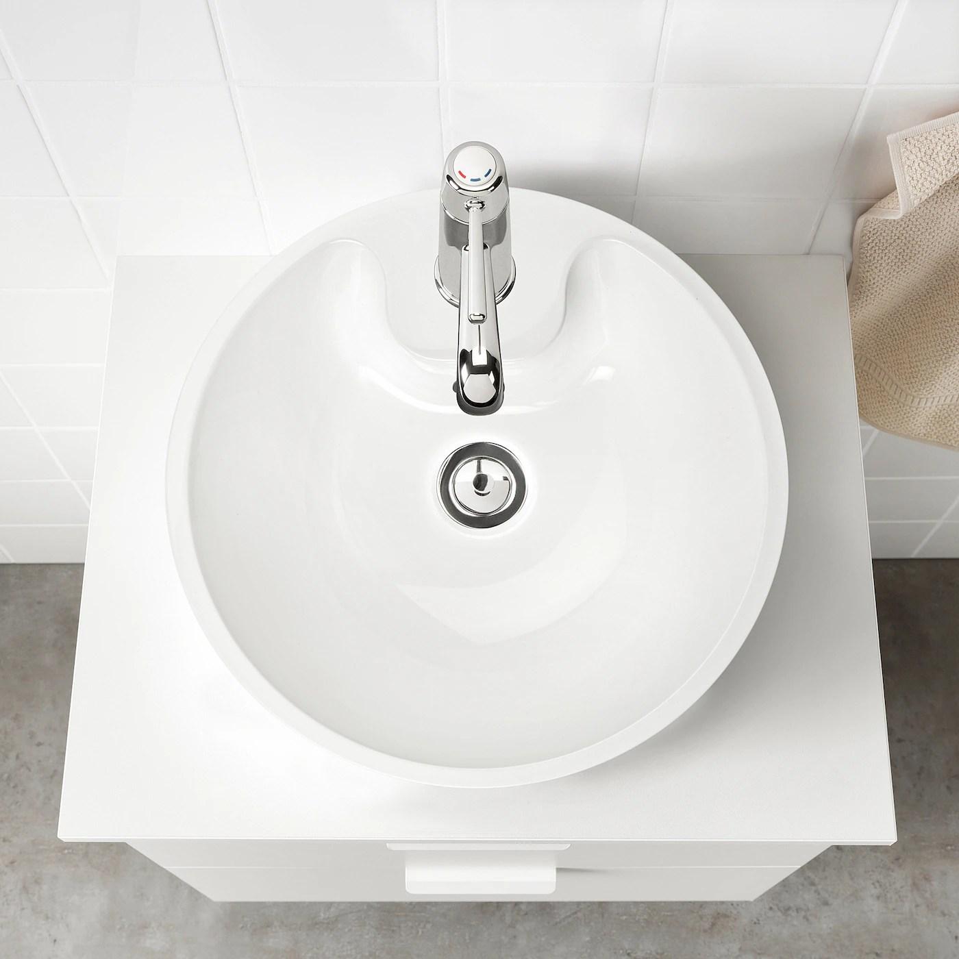 Bodviken Vask Til Bordplade Hvid Ikea