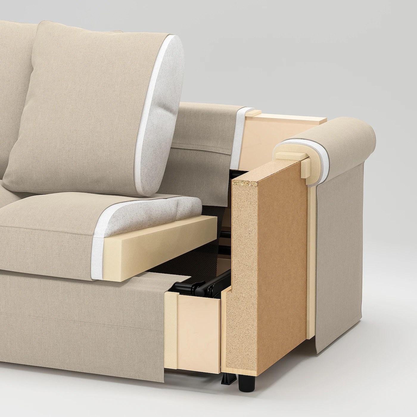 Gronlid U Formet Sofa 6 Siddepladser Med Aben Ende Ljungen Mellemgra Ikea