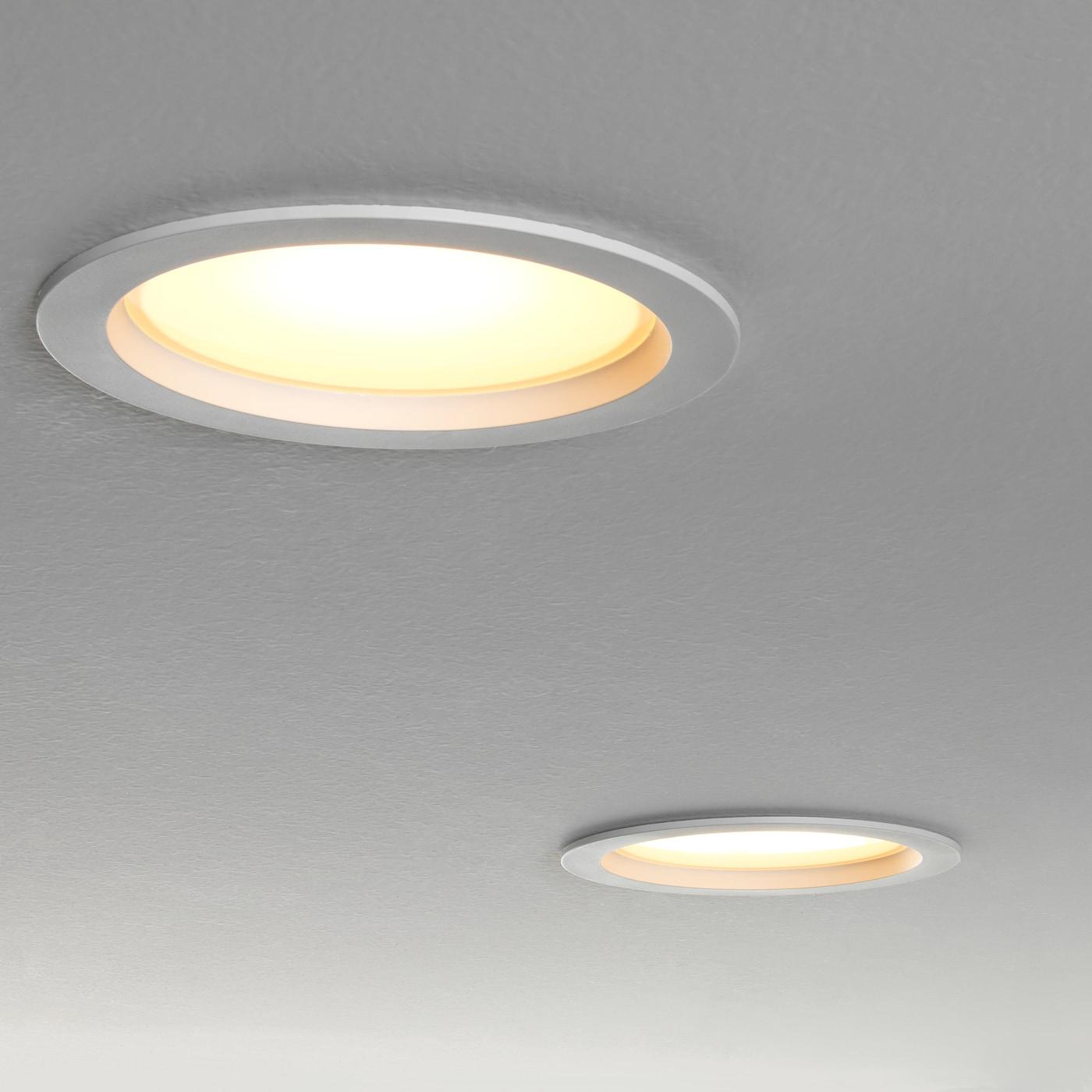 Leptiter Led Indbygningsspot Kan Daempes Hvidt Spektrum Ikea