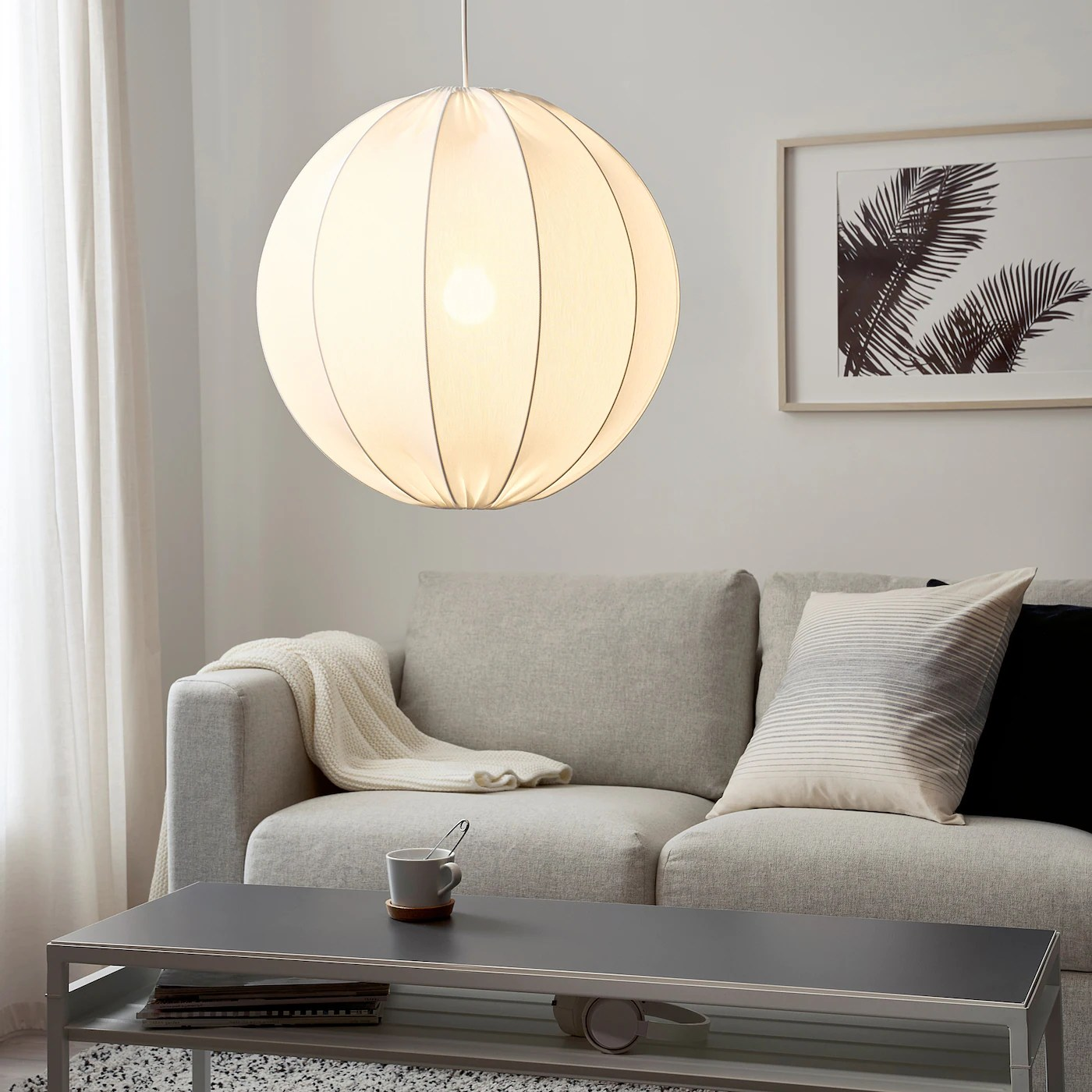 Regnskur Loftlampeskaerm Rundt Hvid Ikea
