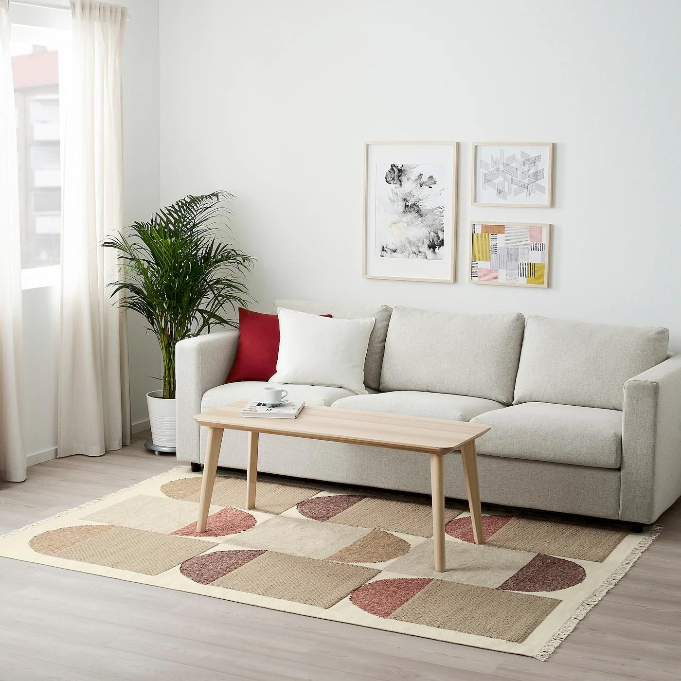 Spangsbro Taeppe Fladvaevet Handlavet Multifarvet Ikea