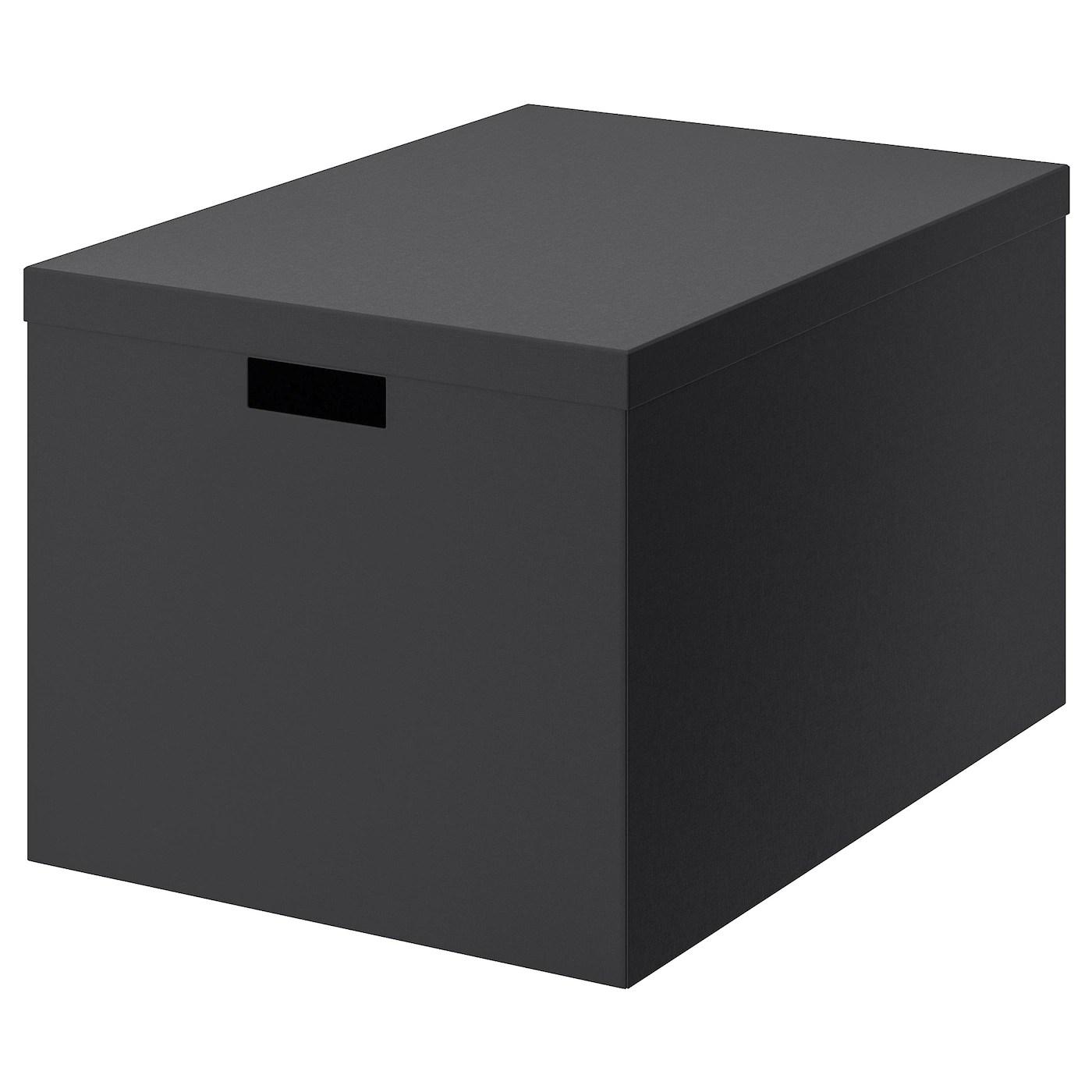 Tjena Kasse Med Lag Sort 35x50x30 Cm Ikea