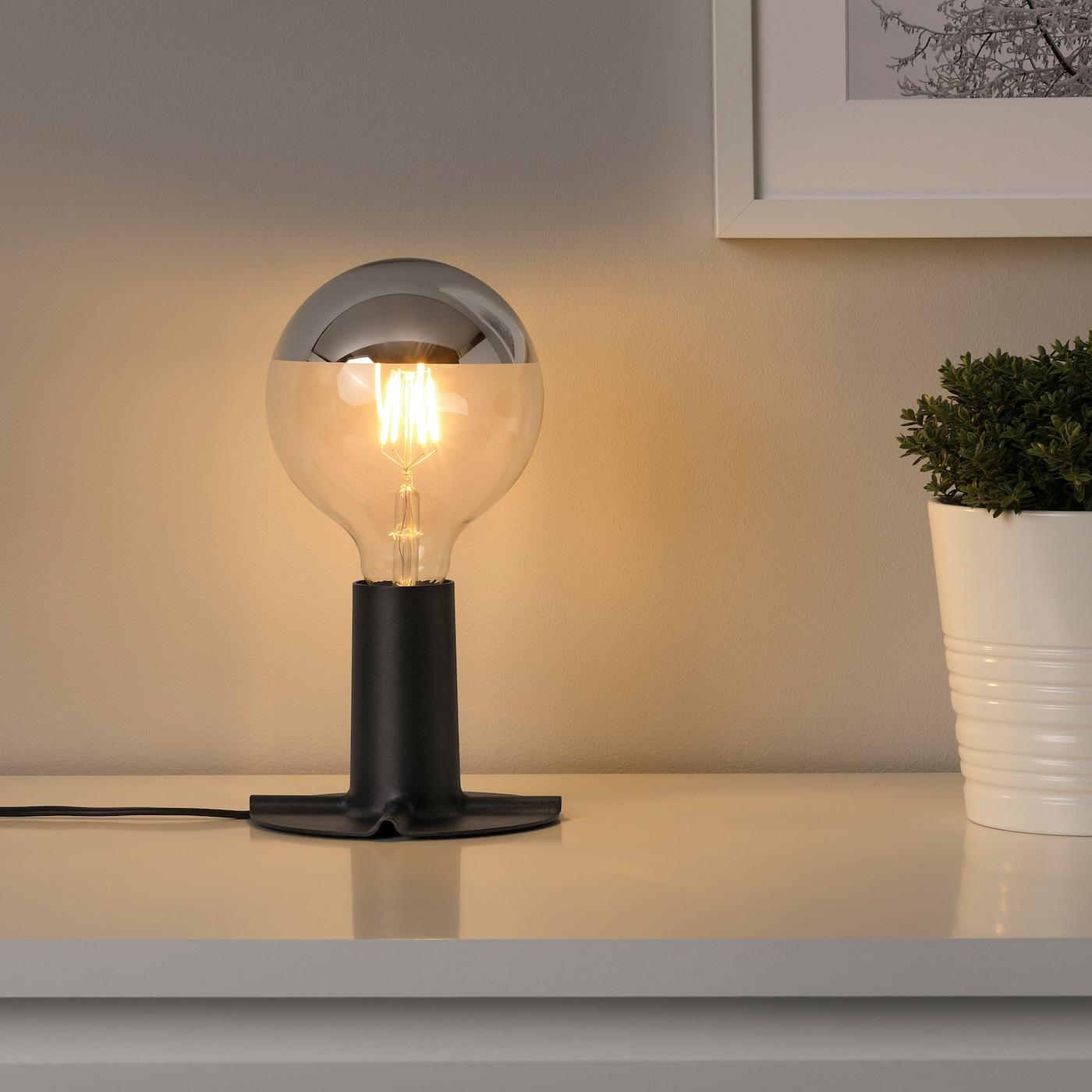 sillbo led bulb e27 370 lumen globe mirrored top silver coloured 125 mm