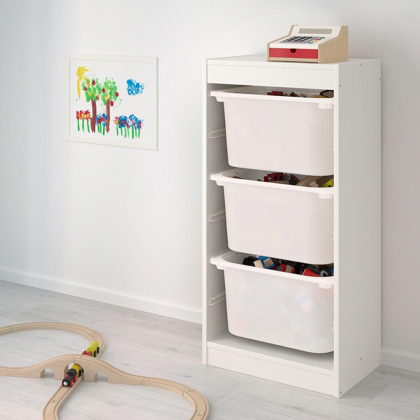 Almacenaje para dormitorio infantil de Ikea TROFAST