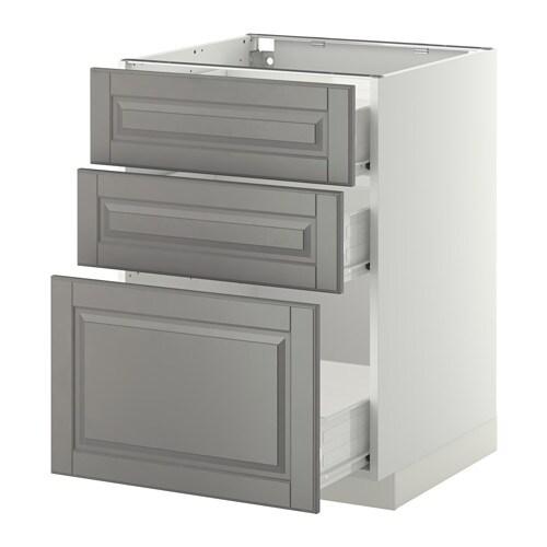 METOD / FÖRVARA Pöytäkaappi + 3 laatikkoa IKEA FÖRVARA-laatikot aukeavat ¾ kokonaissyvyydestään ja tarjoavat reilusti säilytystilaa.