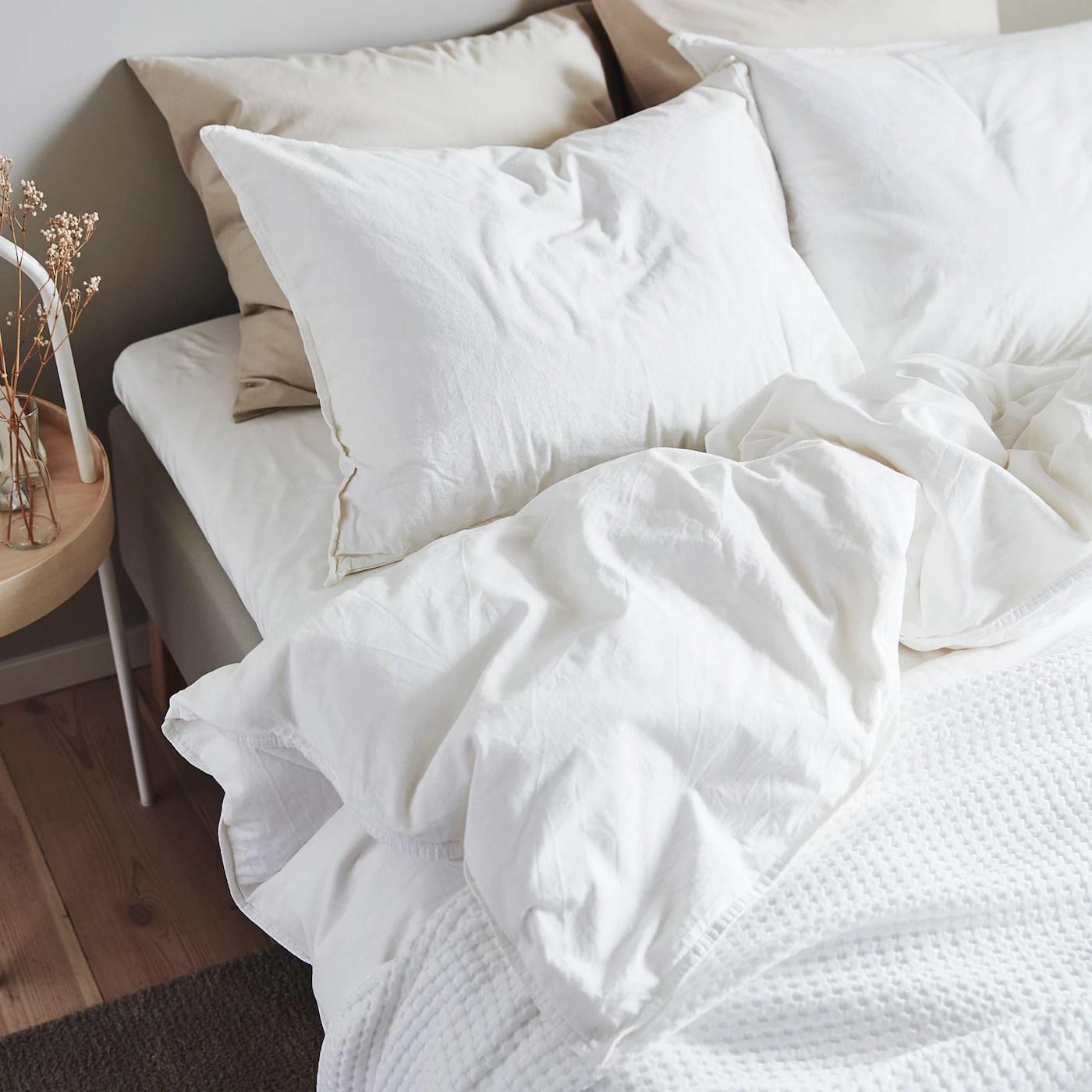 Angslilja Housse Couette 2 Taies Blanc 240x220 65x65 Cm Ikea