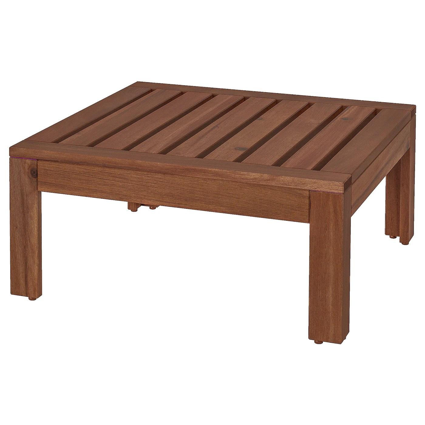 applaro module table tabouret exterieur teinte brun 63x63 cm