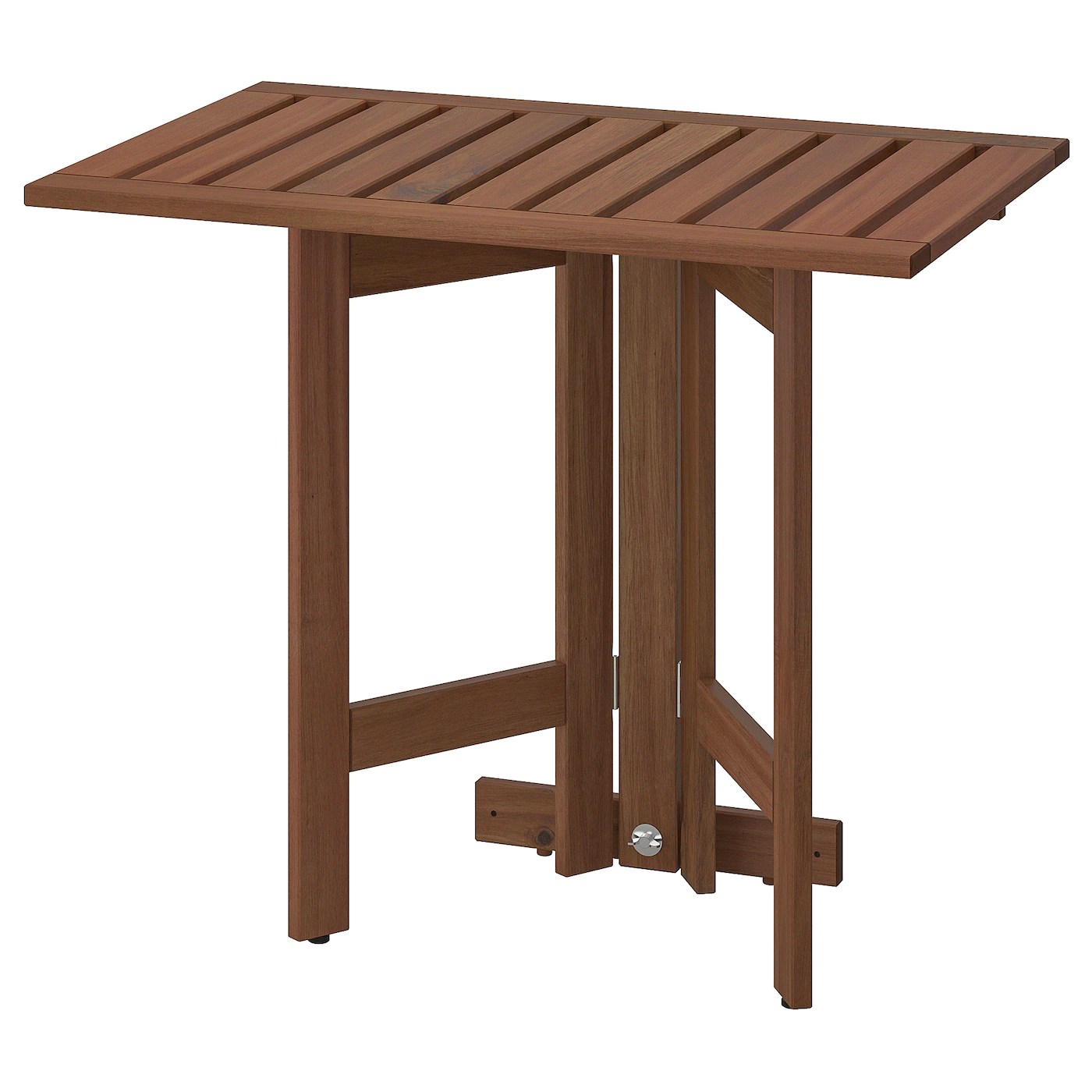 applaro table murale pliante exterieur teinte brun 80x56 cm