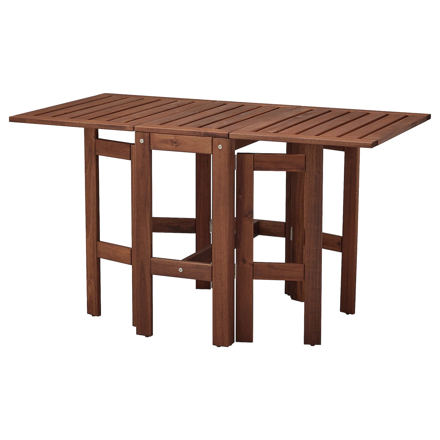 applaro table pliante exterieur teinte brun 34 83 131x70 cm