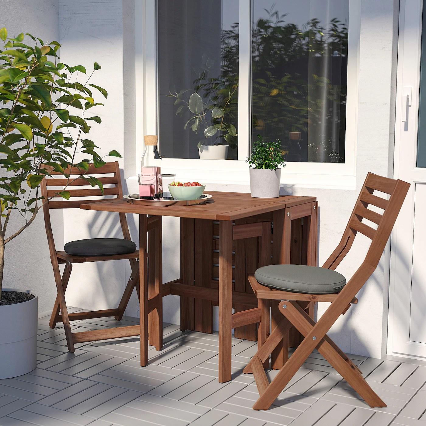 Applaro Table De Jardin Pliante Teinte Brun 34 83 131x70 Cm Ikea Ikea