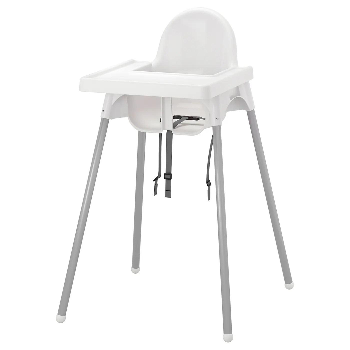 Antilop Structure Chaise Haute Tablette Couleur Argent Blanc Couleur Argent Ikea