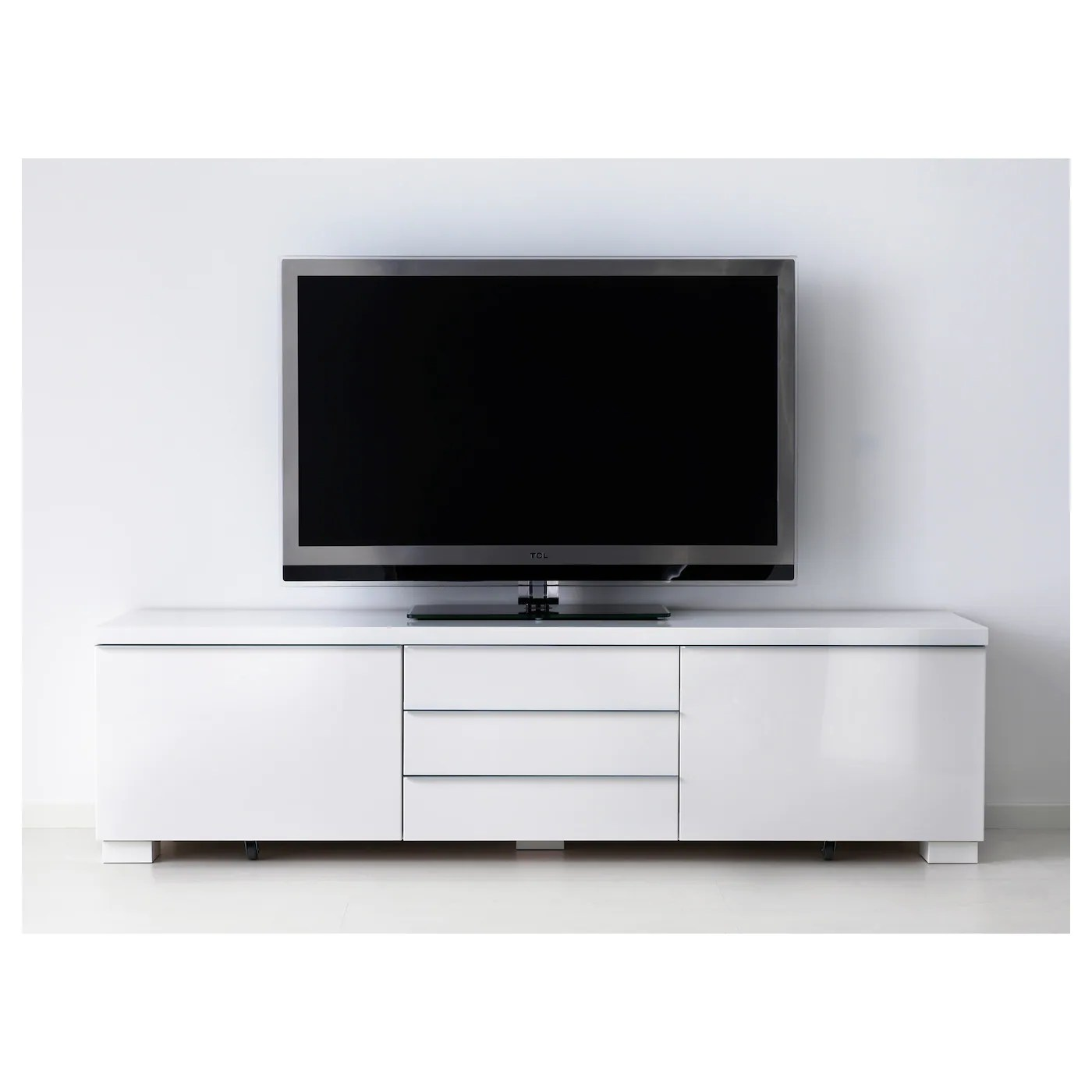 besta burs banc tv brillant blanc 180x41x49 cm