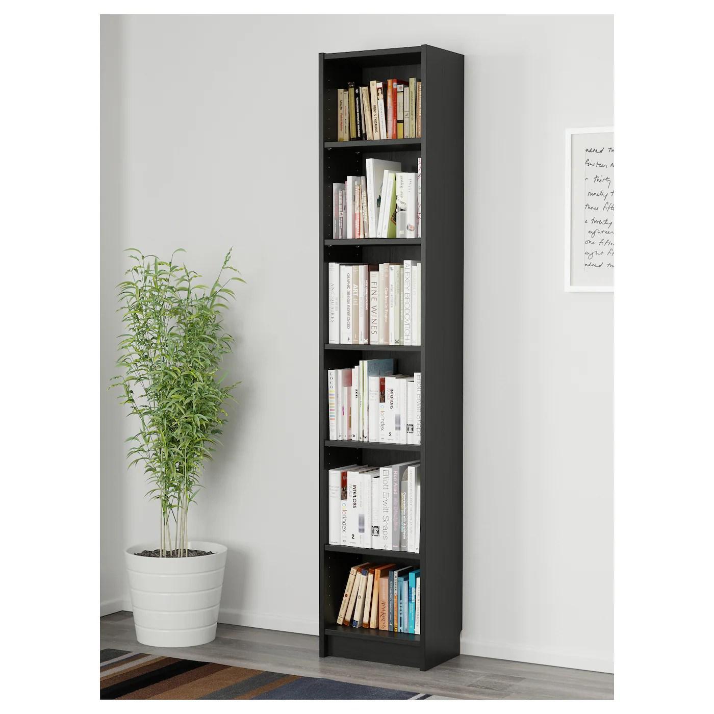 billy bibliotheque brun noir 40x28x202 cm