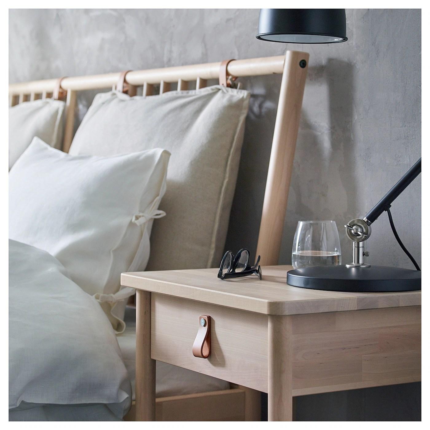 Bjorksnas Table De Chevet Bouleau 48x38 Cm Ikea