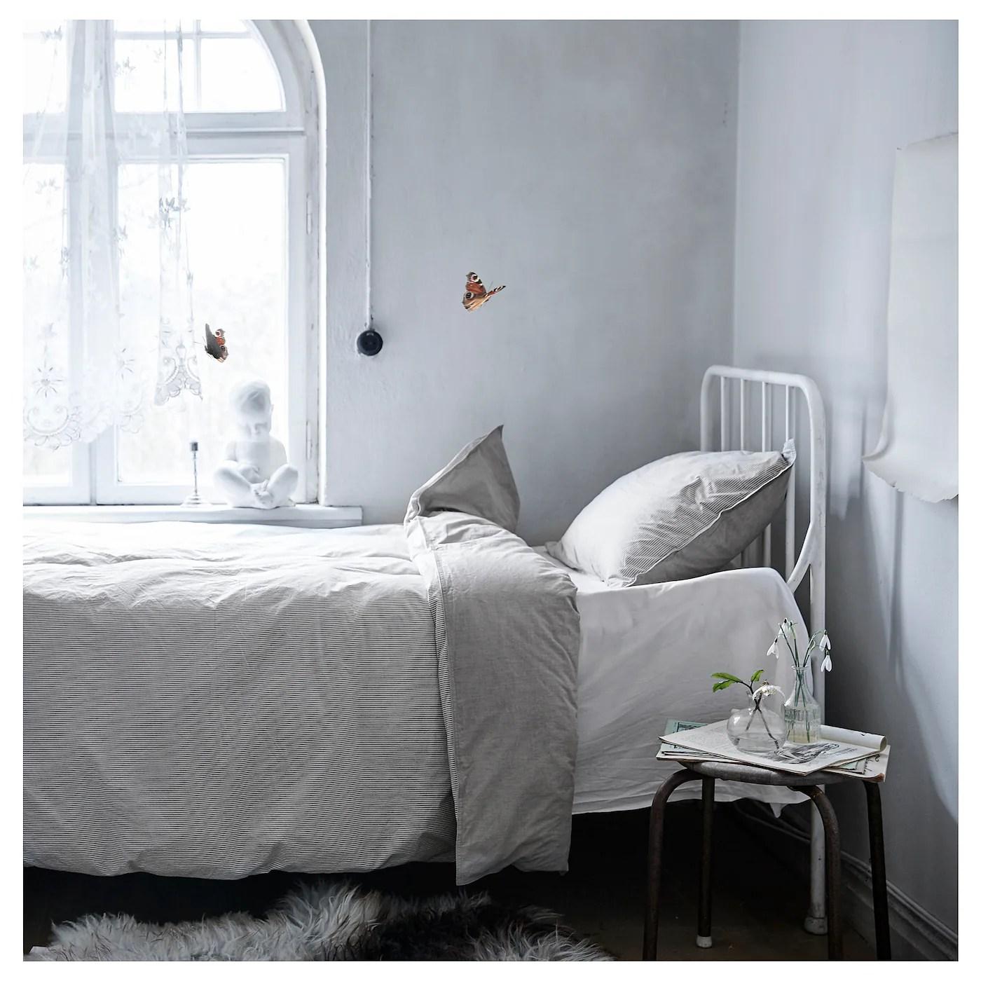 Blavinda Housse De Couette Et Taie Gris 150x200 65x65 Cm Ikea