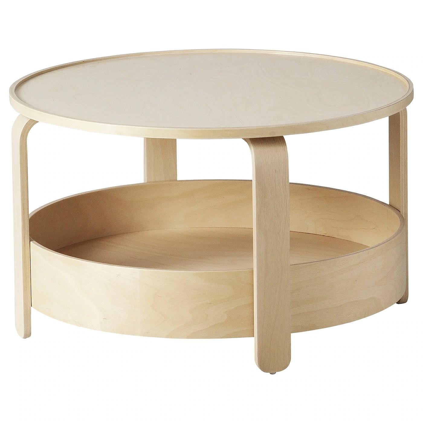 Borgeby Table Basse Plaque Bouleau 70 Cm Ikea