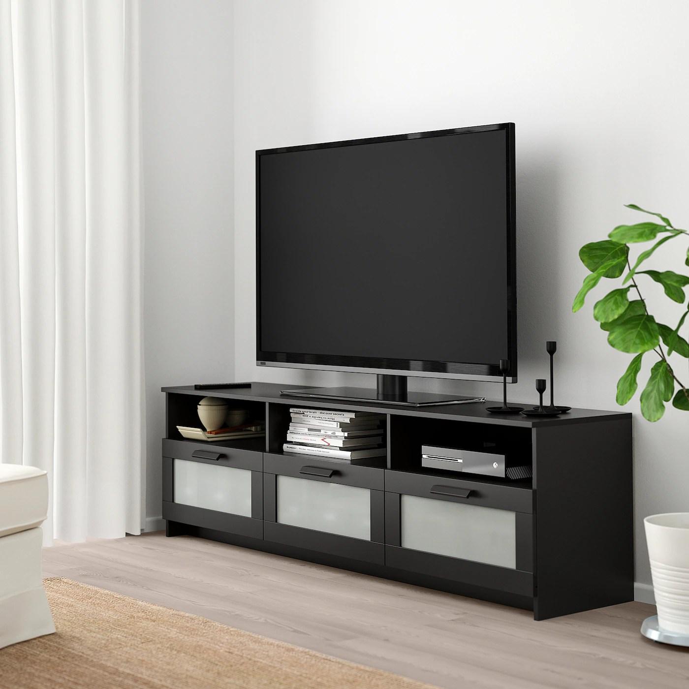 brimnes banc tv noir 180x41x53 cm