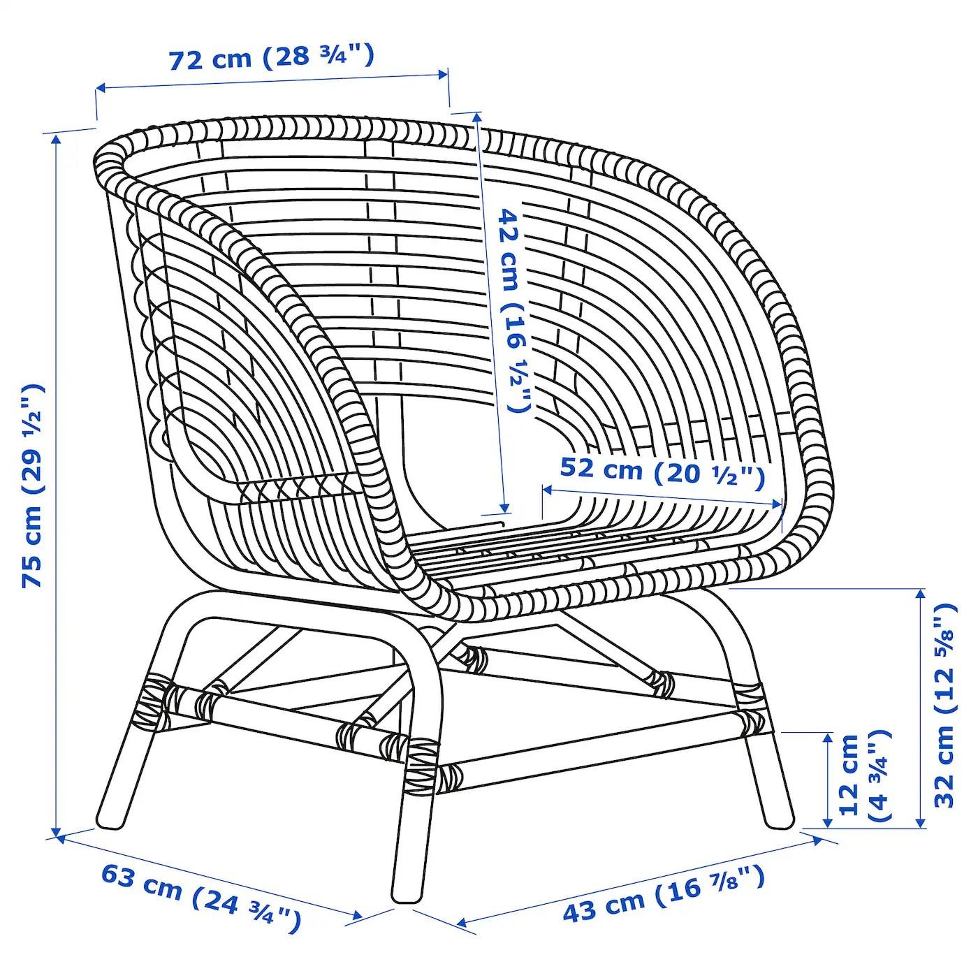buskbo fauteuil rotin materiau