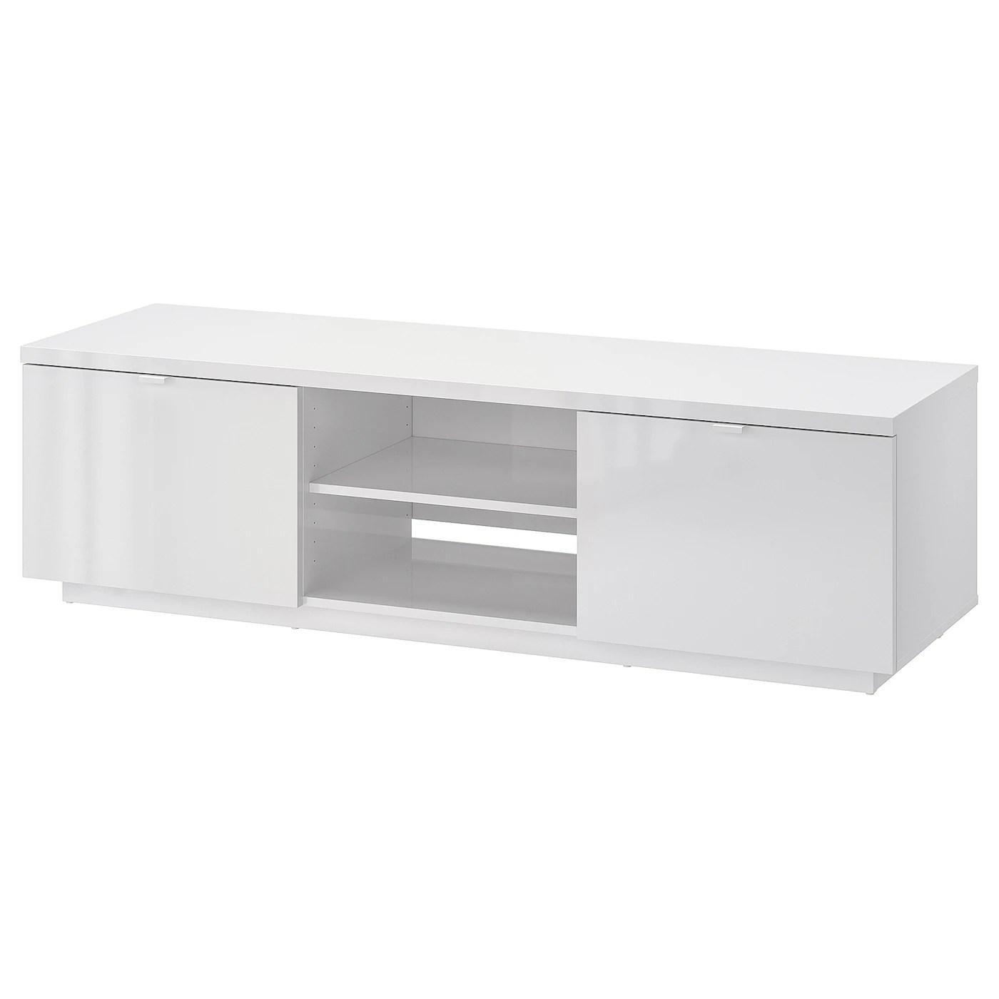 byas banc tv brillant blanc 160x42x45 cm