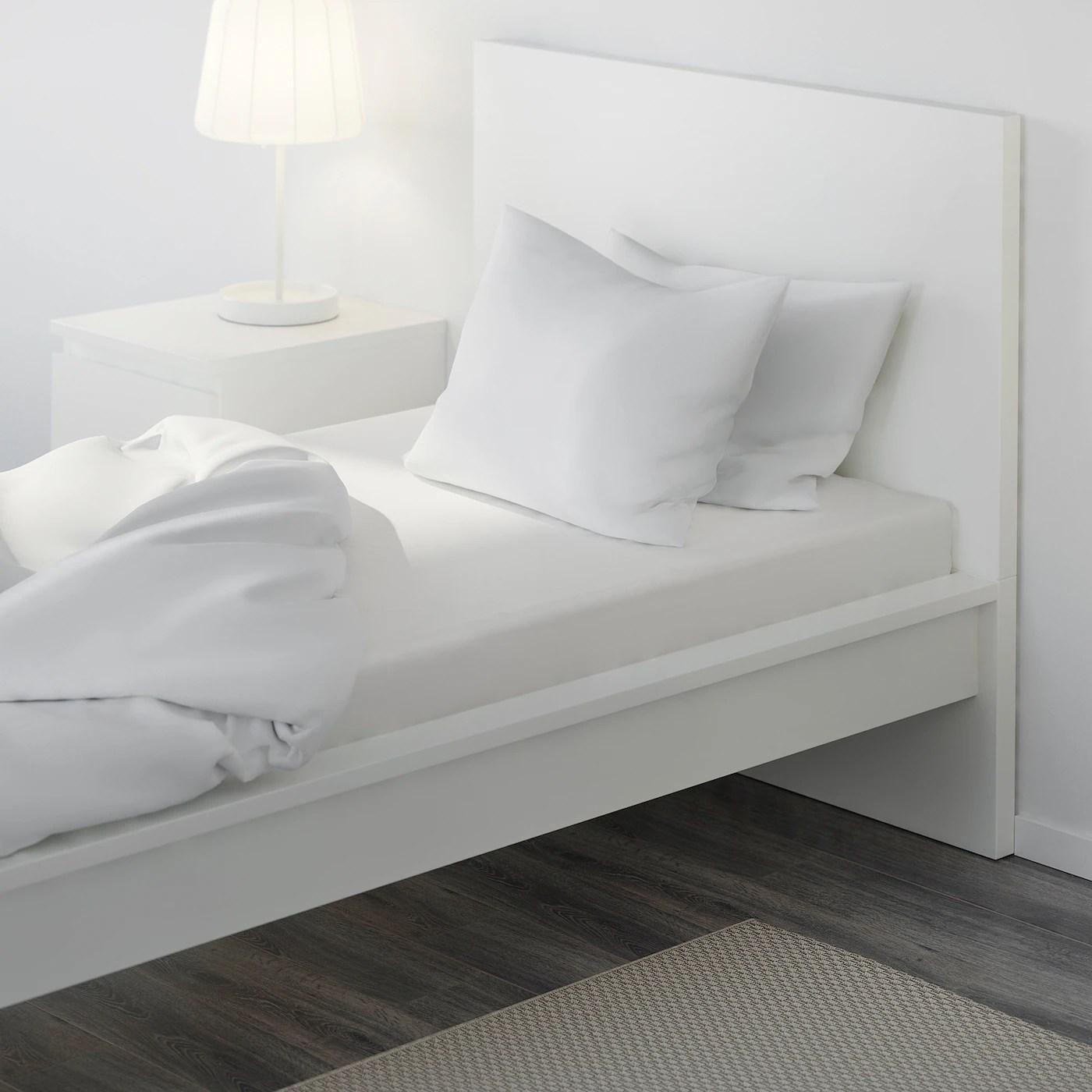 Dvala Drap Housse Blanc 90x200 Cm Materiau Durable Ikea