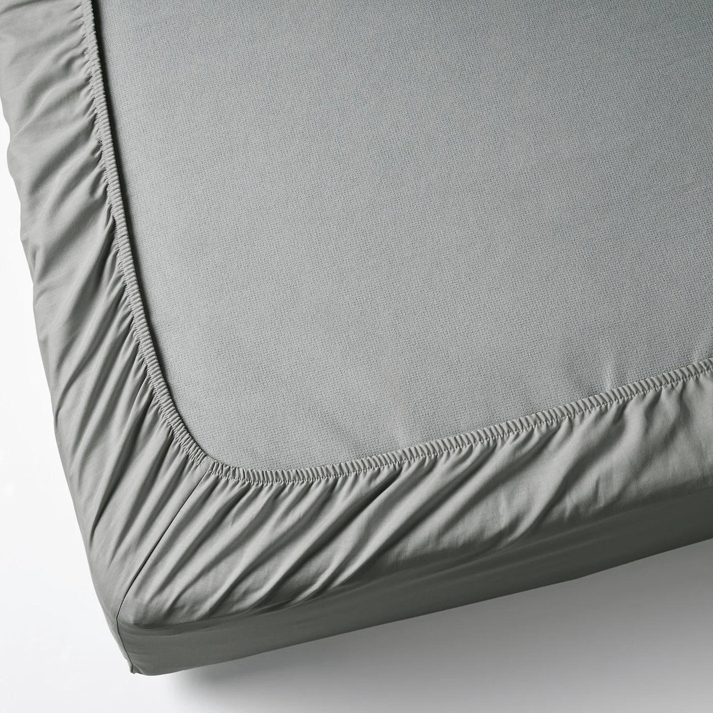 Dvala Drap Housse Gris Clair 90x200 Cm Materiau Durable Ikea