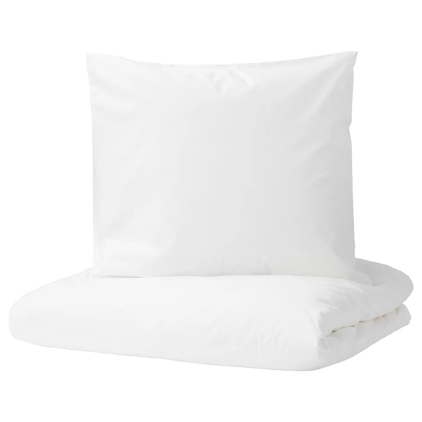 Dvala Housse De Couette Et 2 Taies Blanc 240x220 65x65 Cm Ikea