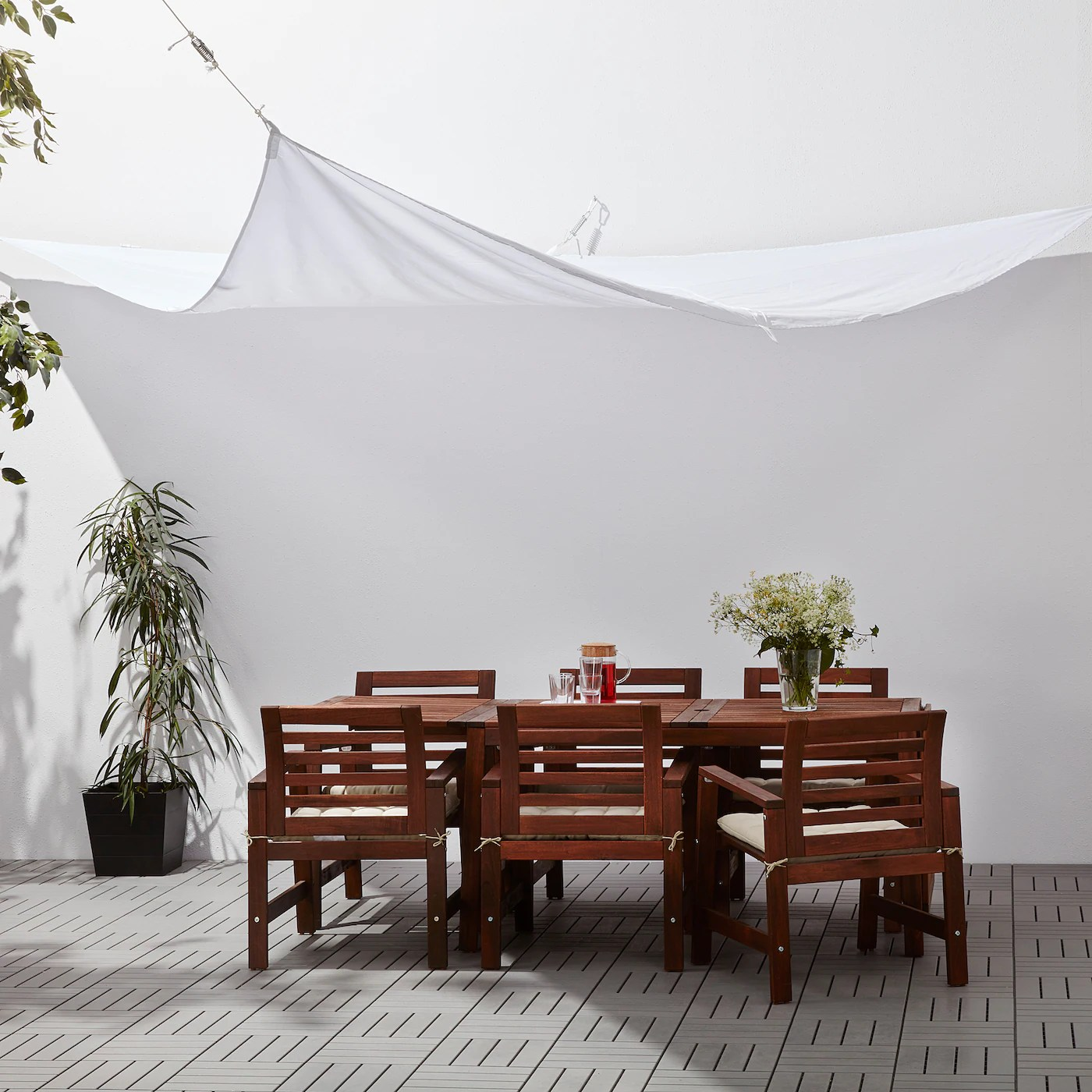 Dyning Toile De Protection Triangulaire Blanc Ikea Ikea
