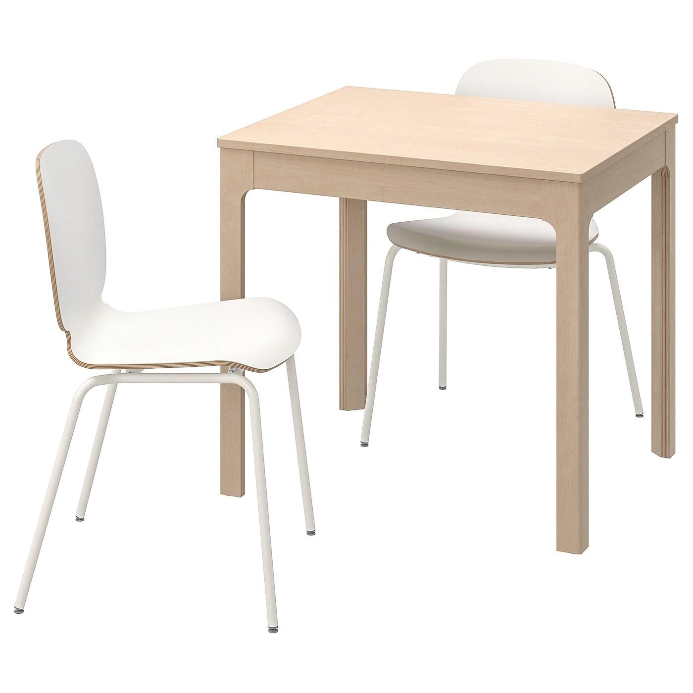 ekedalen svenbertil table et 2 chaises bouleau blanc 80 120 cm