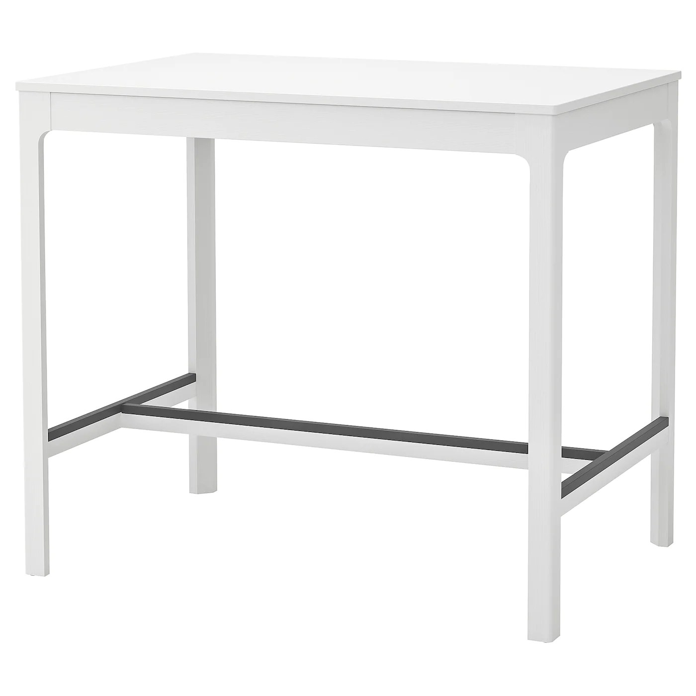 Ekedalen Table De Bar Blanc Materiau Durable Ikea