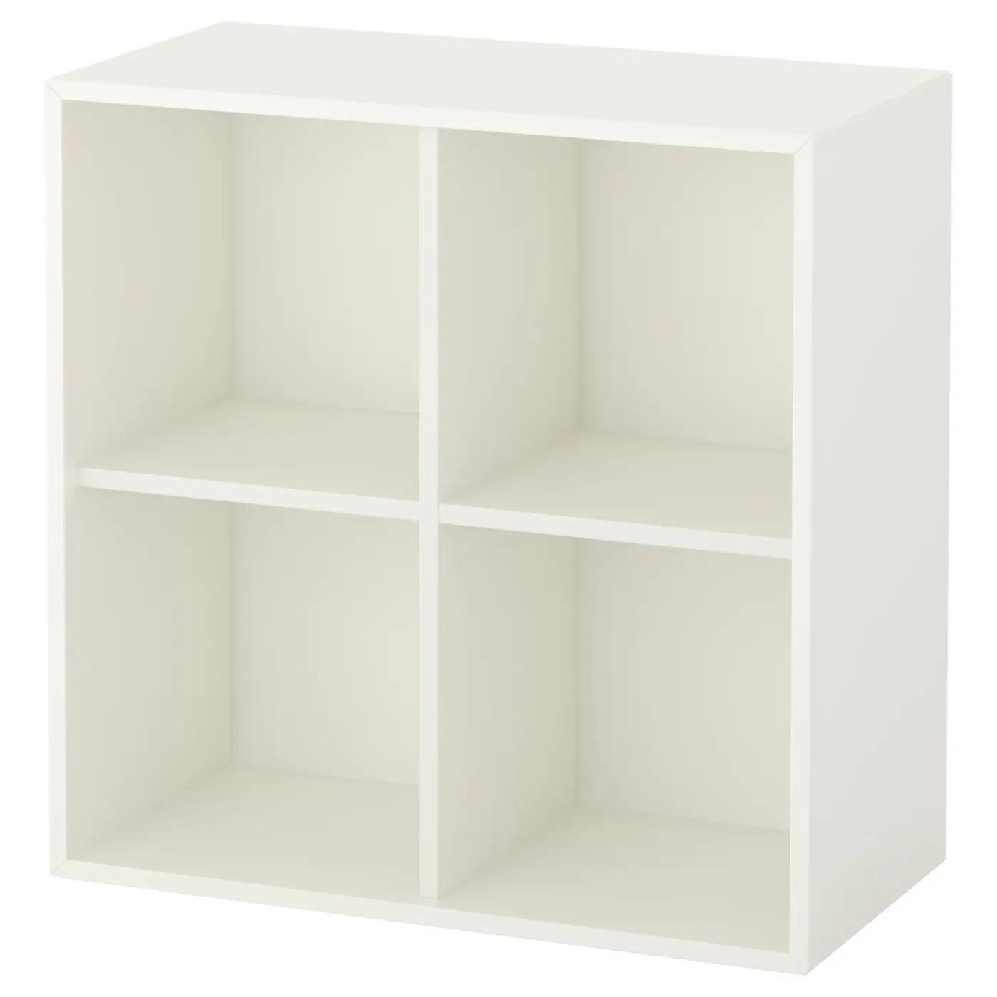 eket rangement 4 compartiments blanc 70x35x70 cm